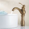 Antique Brass Single Handle Centerset Bathroom Sink Faucet(1039-MA1118)
