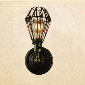 American Country Style Wall Light Indoor Decorative Metal Wall Lamp DIY Shade