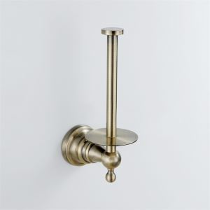 Antique Brass Toilet Tissue Holder