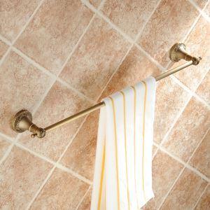 European Vintage Bathroom Accessories Antique Brass Towel Rack Retro Towel Bar