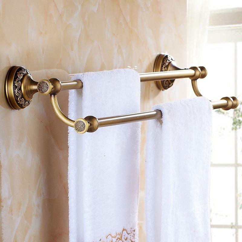 European Vintage Bathroom Accessories Antique Brass Towel ...
