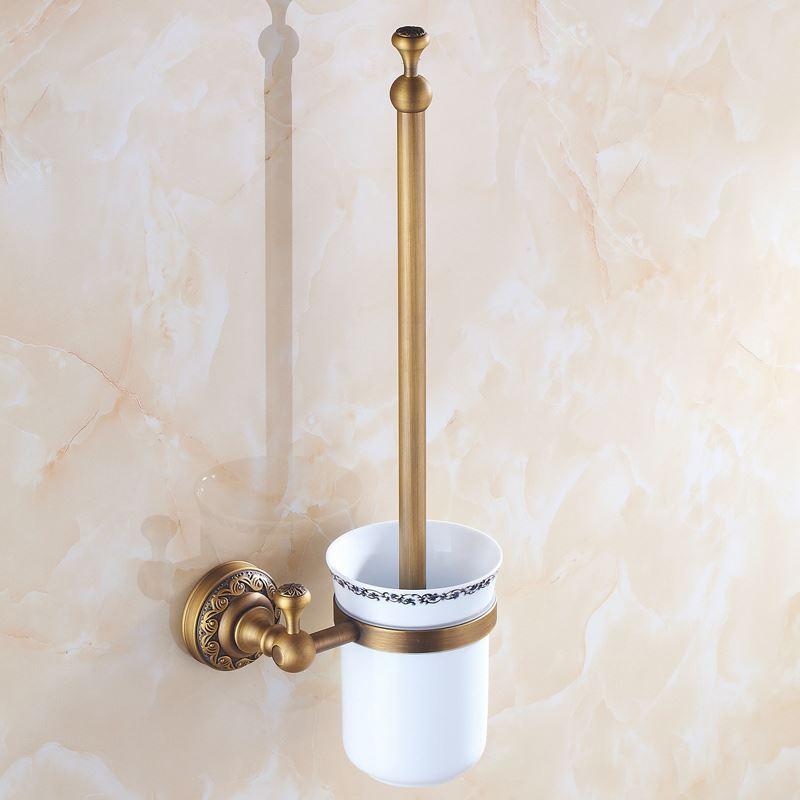 European Vintage Bathroom Accessories Antique Brass Toilet