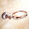European Country Bathroom Accessories Rosy Gold Brass Soap Holder