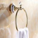 Modern Bathroom Accessories Ti-PVD Brass Towel Ring