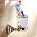 Modern Bathroom Accessories Ti-PVD Brass Toothbrush Holder