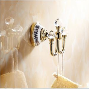 Modern Bathroom Accessories Ti-PVD Brass Robe Hook