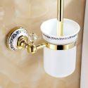 Modern Bathroom Accessories Ti-PVD Brass Toilet Brush Holder