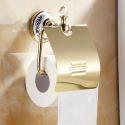 Modern Bathroom Accessories Ti-PVD Toilet Roll Holder Brass Paper Holder