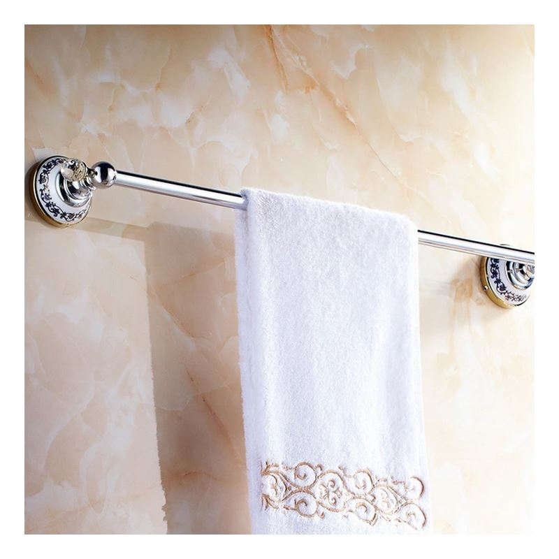 Modern Bathroom Accessories Electroplated Towel Rack Brass