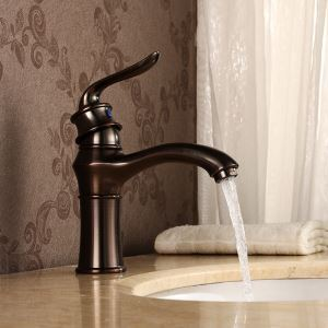 Antique Oil-rubbed Bronze Single Handle Single Installation Hole Sink Faucet Tub Tap
