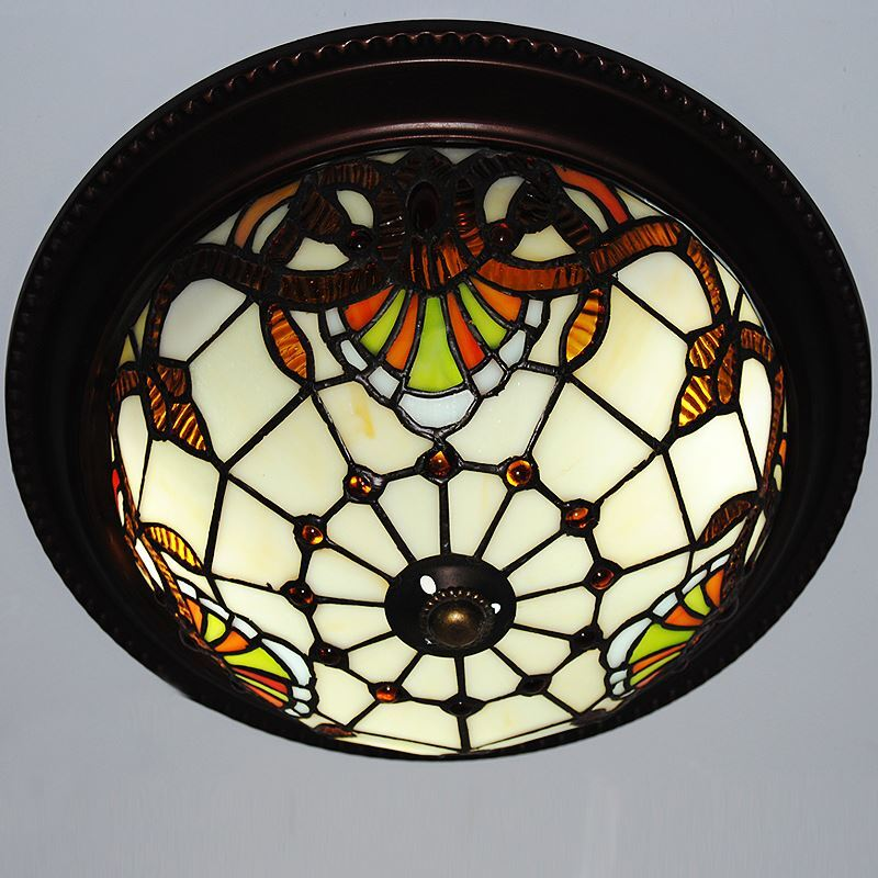 10 Inch European Country Vintage Glass Shade Indoor