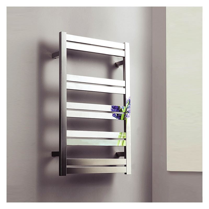 125w Modern Simple Style Towel Warmer Silver Wall Mounted