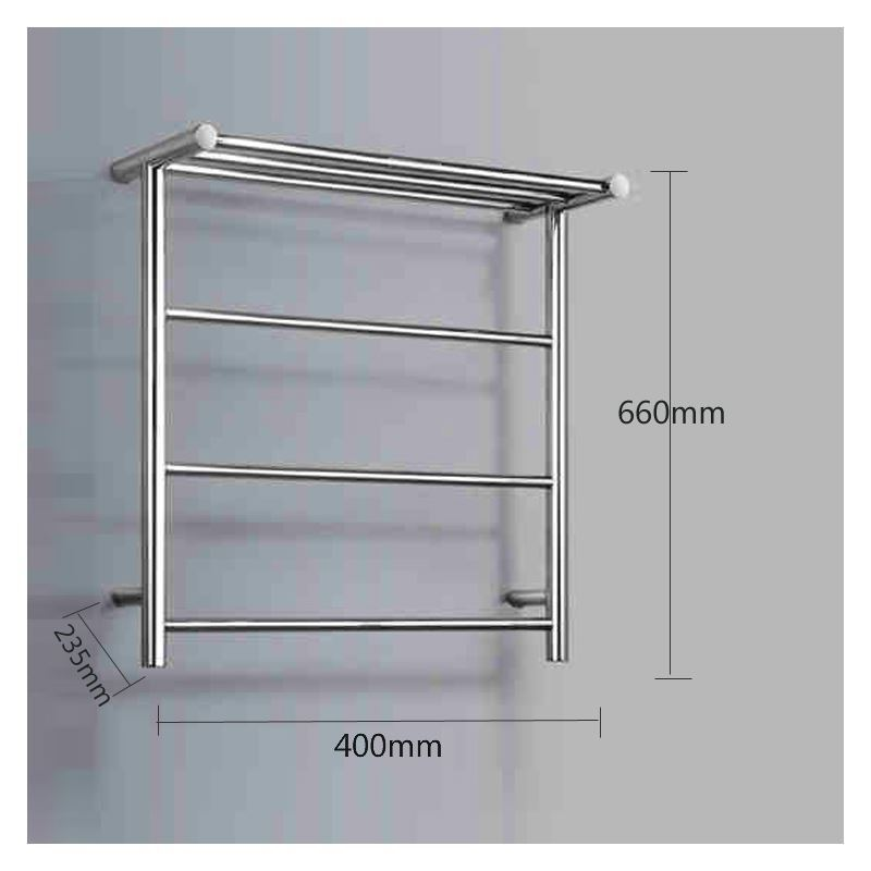 Braddan Stainless Steel Modern Towel Warmer Heated Towel: 40W Modern Simple Style Towel Warmer Silver Wall Mounted