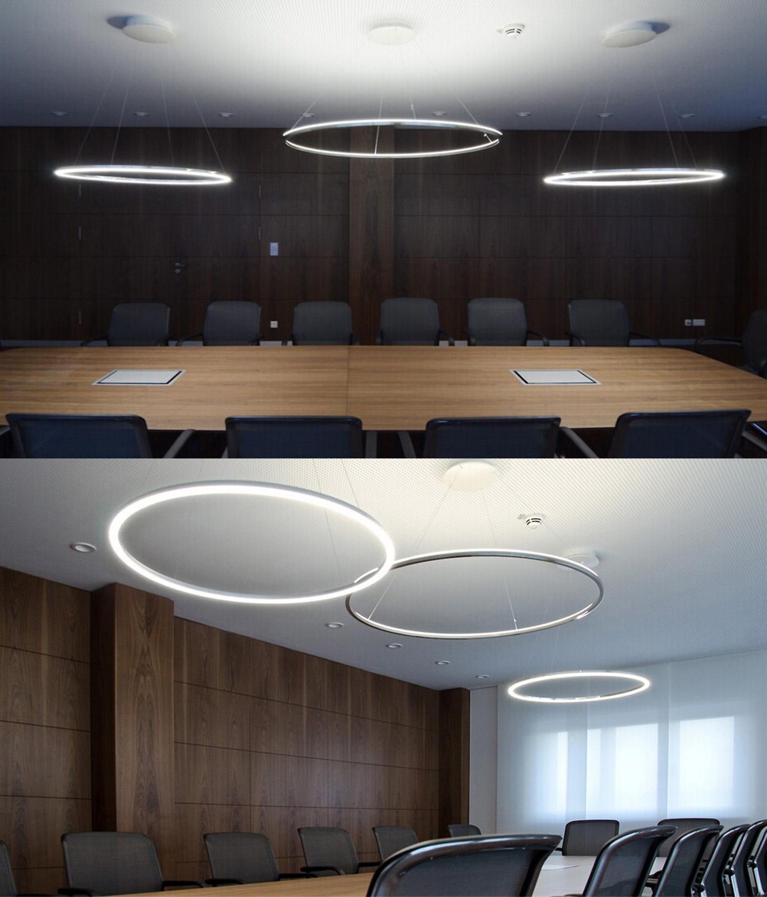 Modern Led Acrylic Pendant Light Living Led Ring Lights Ceiling Lights 80cm Angel S Halo
