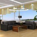 LED Pendant Light Acrylic Ceiling Light 80cm Ring Lamp (Angel's Halo)