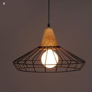 American Country Wrought Iron Stoving Varnishing Craftsmanship Pendant Light 1 Light Matted Black Chandelier