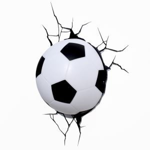 Contemporary Simple Fashion LED 3D Sconce Creative Football Wall Light