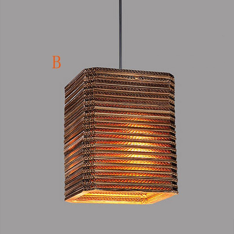 American Country Style Corrugated Paper Indoor Pendant