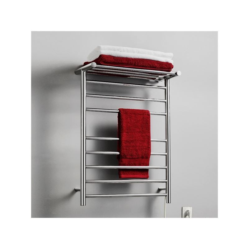 93w Modern Simple Style Towel Warmer Silver Wall Mounted