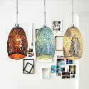 Colored Glass Pendant Light Decoration Pendant Light 1 Light Tiffany Resin Glass Painting Processing