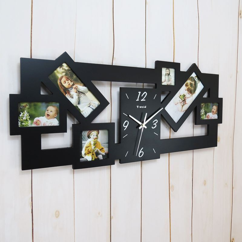 Contemporary Simple Creative Wooden Frame Mute Wall Clock