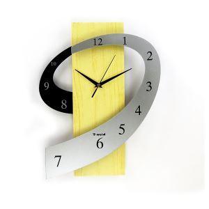 Modern Wall Clock Contemporary Simple Creative Wooden Mute Wall Clock Non-ticking