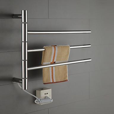 Swivel Towel Warmer 40w Swing Arm Stainless Steel Circular