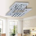 9W LED Ceiling Light with Rhombus Plate in Crystal Beaded Design Energy Saving