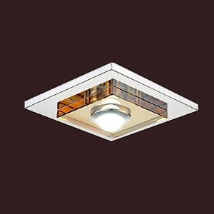 3W Led Amber Crystal Ceiling light, 1 light, Flush Mounted