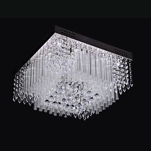 Ceiling Light LED Crystal Luxury Modern Living 16 Lights Energy Saving