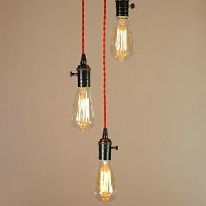Ceiling Lights Simple Retro Edison Light Bulb Absorb Dome Light