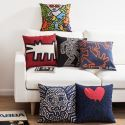 Fashion Pillow Case Keith Haring's Masterpiece Sofa Office Linen Cushion Cover Pillow Cover