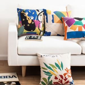 Modern Simple Pillow Case Matisse's Masterpiece Sofa Office Linen Cushion Cover Pillow Cover