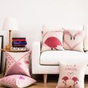 Flamingo Heart-shaped Sofa Office Cushion Cover Pillow Cover for Christmas Holiday Decor Christmas Pillow Christmas Gifts
