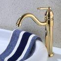 Vintage Ti-PVD Golden Basin Tap Single Handle Sink Faucet for Bathroom