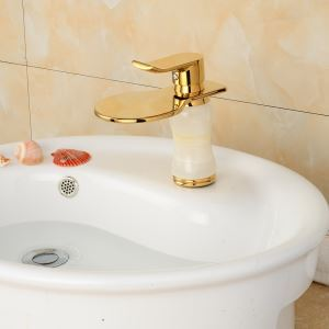 Modern Electroplating Titanium Single Handle Sink Faucet