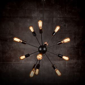 Creative 12-Light Brushed Nickel Chandelier