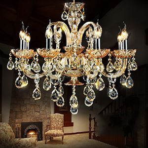 Chandeliers Crystal Modern  Contemporary Living Room  Bedroom  Dining Room Lighting Ideas  Study Room  Office Glass 8 Lights