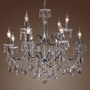 Ceiling Lights Chandelier Crystal Modern 2 Tiers Living 12 Lights