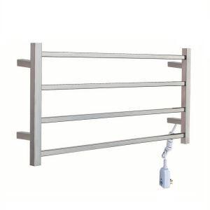Modern Simple Silver Wall Mounted Stainless Steel Towel Warmer 40W