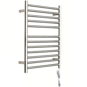 Modern Simple Silver Wall Mounted Stainless Steel Towel Warmer 100W