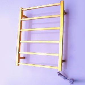 Golden Wall Mounted Towel Warmer Stainless Steel 60W
