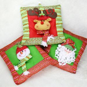 Christmas Deer Santa Claus Snow Man Decorative Pillow Cover  Christmas Holiday Decor Christmas Gifts