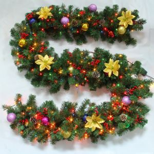 Christmas Garland with Lights for Decoration Christmas Holiday Decor Christmas Gifts 2.7M