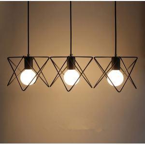 Chandeliers 3 LED Bulbs ceiling lights Classic Rustic Lodge Vintage Lantern Metal Minimalist Style Ceiling Lights