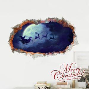 Creative Christmas 3D Christmas Eve's Sky Wall Sticker Christmas Holiday Decor Christmas Gifts