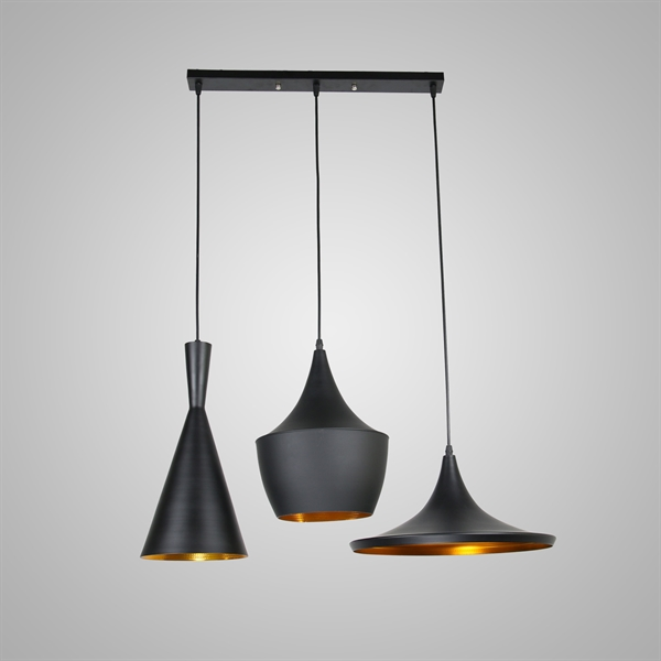 Matte Black 3 Pendant Ceiling Light