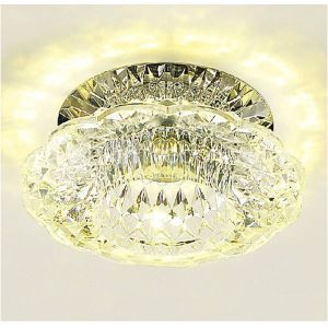 10cm Mini Crystal Ceiling Lamp Spotlight LED 3W