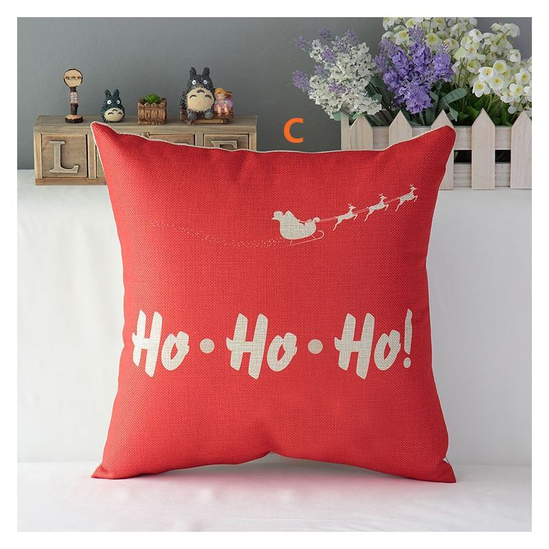 Modern Simple Christmas Cartoon Sofa Office Cushion Cover