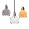 Mouth-Blown Mini Glass Pendant Light Modern Minimalist Pendant Light with 1 Light Dining Room Living Room Bedroom Ceiling Lights(Embrace Me)